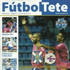 Coleccionismo deportivo: RC DEPORTIVO DE LA CORUÑA.FUTBOL TETE.Nª 103.27/10/2013.CD TENERIFE.PÓSTER CENTRAL RICARDO LEÓN.. Lote 53673254