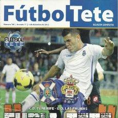 Coleccionismo deportivo: UD LAS PALMAS.FUTBOL TETE.Nª 106.4/12/2013.CD TENERIFE.PÓSTER CENTRAL AITOR SANZ.16 PÁG.. Lote 53673479