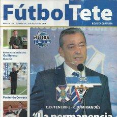 Coleccionismo deportivo: CD MIRANDÉS.FUTBOL TETE.Nª 110.2/2/2014.CD TENERIFE.PÓSTER CENTRAL ÁLVARO CERVERA.. Lote 53673855
