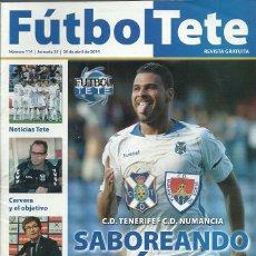 Coleccionismo deportivo: CD NUMANCIA.FUTBOL TETE.Nª 114.20/4/2014.CD TENERIFE.PÓSTER CENTRAL LUISMI LORO.. Lote 53674074
