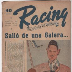 Coleccionismo deportivo: RACING # 397 RAMON ITURRIOZ CELTA DE VIGO 1951 OLSEN AL REAL MADRID ZORZENON A TIGRE 20 P BUEN ESTAD. Lote 133255506