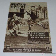 Coleccionismo deportivo: (M) REVISTA VIDA DEPORTIVA ATH BILBAO 0 - FC BARCELONA 3 , 7 ENERO 1952, BUEN ESTADO. Lote 53939098