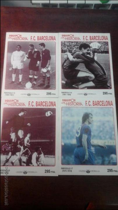Coleccionismo deportivo: 13 FASCICULOS EQUIPOS CON HISTORIA F.C BARCELONA. - Foto 3 - 54306813