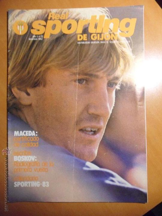 REAL SPORTING DE GIJON. AÑO 3. Nº 32. DICIEMBRE 1982. REVISTA CON FOTOGRAFIAS. (Coleccionismo Deportivo - Revistas y Periódicos - otros Fútbol)