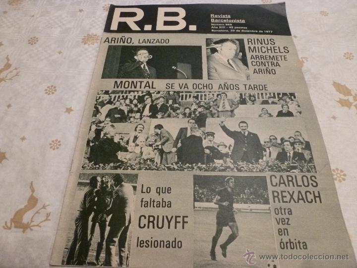 R.B.-REV.BARCELONISTA Nº: 665(20-12-77)CRUYFF LESION!! BARÇA 1 SPORTING GIJÓN 0-FOTOS (Coleccionismo Deportivo - Revistas y Periódicos - otros Fútbol)