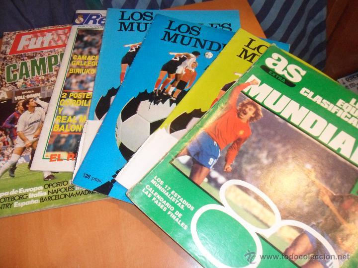 LOTE DE 6 REVISTAS DE FUTBOL. ALGUNAS TIENEN FOTOS RECORTADAS, PERO AUN ASI MUCHOS REPORTAJES Y FOTO (Coleccionismo Deportivo - Revistas y Periódicos - otros Fútbol)