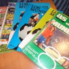 Coleccionismo deportivo: LOTE DE 6 REVISTAS DE FUTBOL. ALGUNAS TIENEN FOTOS RECORTADAS, PERO AUN ASI MUCHOS REPORTAJES Y FOTO. Lote 54461035