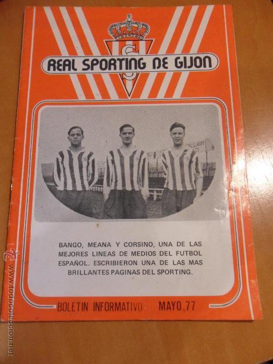 REAL SPORTING DE GIJON. BOLETIN INFORMATIVO MAYO 1977. (Coleccionismo Deportivo - Revistas y Periódicos - otros Fútbol)