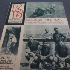 Coleccionismo deportivo: R.B.-REV.BARCELONISTA Nº:123(8-8-67)BARÇA Y SABADELL INICIAN TEMPORADA 67-68-FOTOS. Lote 54593453