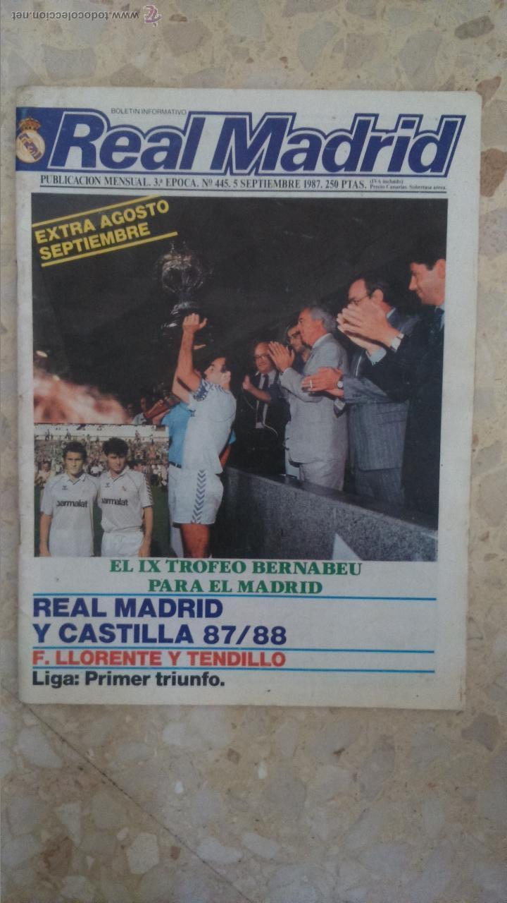 REVISTA REAL MADRID.N 445.1987.DOS POSTERS.LEER¡¡ (Coleccionismo Deportivo - Revistas y Periódicos - otros Fútbol)