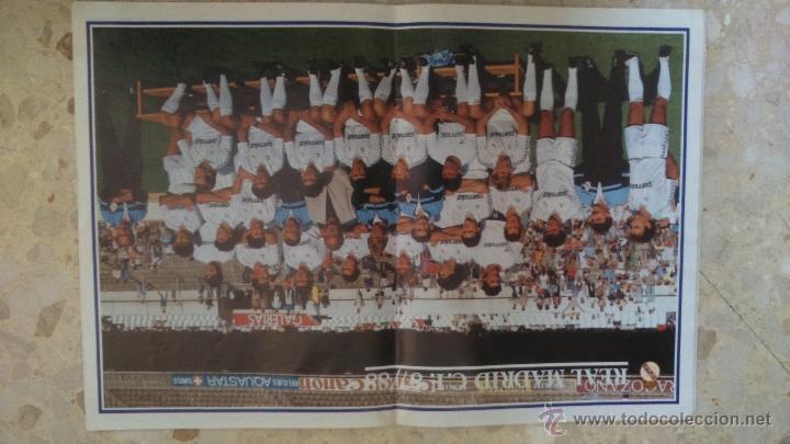 Coleccionismo deportivo: REVISTA REAL MADRID.N 445.1987.DOS POSTERS.LEER¡¡ - Foto 3 - 54630484