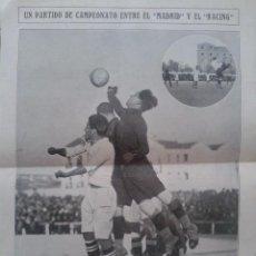 Coleccionismo deportivo: REAL MADRID - RACING - RECORTE REVISTA. Lote 54653504