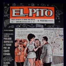 Coleccionismo deportivo: EL PITO. REVISTA DEPORTIVA DE HUMOR PARA ADULTOS Nº14. AÑO 1. 1967. PLANTILLA REAL MADRID BALONCESTO. Lote 54767684