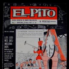 Coleccionismo deportivo: EL PITO. REVISTA DEPORTIVA DE HUMOR PARA ADULTOS Nº16. AÑO 1. 1967. PLANTILLA TENERIFE CLUB FUTBOL. Lote 54767750