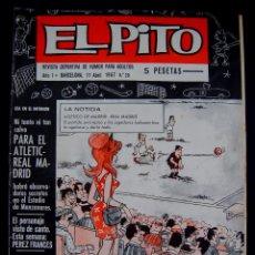 Coleccionismo deportivo: EL PITO. REVISTA DEPORTIVA DE HUMOR PARA ADULTOS Nº20. AÑO 1. 1967. PLANTILLA EQUIPO CICLISTA BIC. Lote 54768307