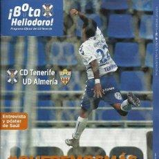 Coleccionismo deportivo: CD TENERIFE-UD ALMERIA.6/3/2016.Nº 76.¡BOTA HELIODORO!#QUEREMOSMÁS.PÓSTER SAUL GARCÍA. Lote 186431311