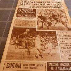 Collezionismo sportivo: DICEN(13-10-69)R.SOCIEDAD 1 BARÇA 0,PONTEVEDRA 1 R.MADRID 3,ESPAÑOL 1 ONTENIENTE 0-FOTOS. Lote 55372142