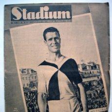 Coleccionismo deportivo: PERIÓDICO STADIUM. Nº 109. 4 ENERO 1945. REPORTAJE HANDBALL LISBOA-MADRID. Lote 55383425
