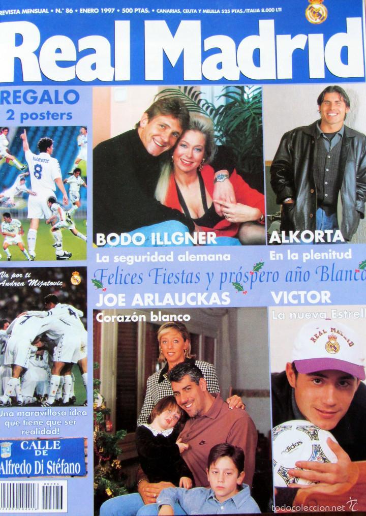 REVISTA REAL MADRID ENERO 1997 Nº 86 ILLGNER ALKORTA JOE ARLAUCKAS VICTOR (Coleccionismo Deportivo - Revistas y Periódicos - otros Fútbol)