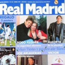 Coleccionismo deportivo: REVISTA REAL MADRID ENERO 1997 Nº 86 ILLGNER ALKORTA JOE ARLAUCKAS VICTOR. Lote 55889880