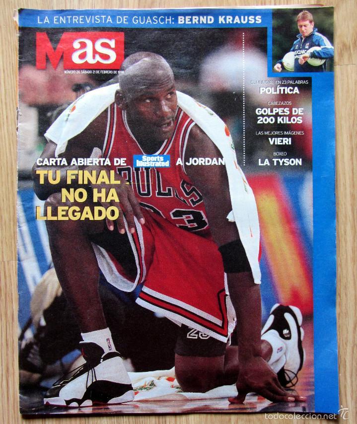 REVISTA AS 24 FEBRERO 1998 MICHAEL JORDAN BERND KRAUSS CHRISTY MARTIN POSTER VIERI ATLETICO MADRID (Coleccionismo Deportivo - Revistas y Periódicos - otros Fútbol)