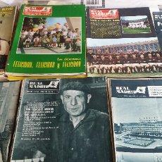 Coleccionismo deportivo: LOTE 41 REVISTA REAL MADRID 1964-65-66-67-68-69-70-74 FANTÁSTICO. Lote 55908791