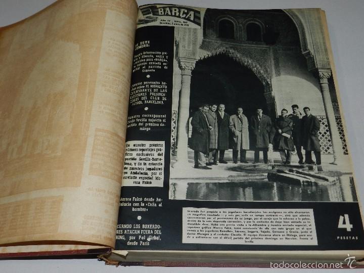 (M) REVISTA BARÇA AÑO IV NUM 107 AL NUM 158 BARCELONA 1958 , COMPLETO , TOMO ENC, MEDIA PIEL (Coleccionismo Deportivo - Revistas y Periódicos - otros Fútbol)