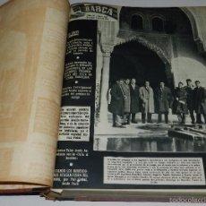 Collectionnisme sportif: (M) REVISTA BARÇA AÑO IV NUM 107 AL NUM 158 BARCELONA 1958 , COMPLETO , TOMO ENC, MEDIA PIEL. Lote 55993185