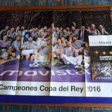 Coleccionismo deportivo: HALA MADRID Nº 57. DICIEMBRE 2015 PÓSTER REAL MADRID BALONCESTO CAMPEÓN COPA DEL REY 2016 PRECINTADA. Lote 121941630