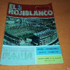 Coleccionismo deportivo: REVISTA EL ROJIBLANCO AT. MADRID - REAL MURCIA 1983. Lote 56155708