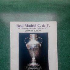 Collectionnisme sportif: PROGRAMA OFICIAL COPA DE EUROPA -- REAL MADRID - YOUNG BOYS ( 01/10/1986 ). Lote 56163551