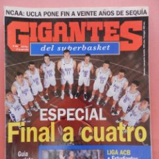Coleccionismo deportivo: REVISTA GIGANTES DEL BASKET Nº 493 1995 ESPECIAL FINAL FOUR 95-MILAN EQUIPOS LEYENDA-SUPERBASKET. Lote 56223806