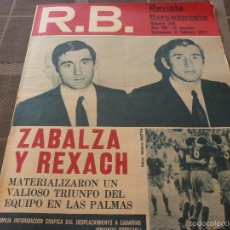 Coleccionismo deportivo: R.B.-REV.BARCELONISTA Nº: 358(8-2-72) NASTIC TARRAGONA 0 BARÇA 1,L.PALMAS 1 BARÇA 2-FOTOS. Lote 56238483