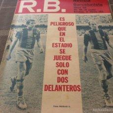 Coleccionismo deportivo: R.B.-REV.BARCELONISTA Nº: 359(15-2-72)BARÇA 1 GIJÓN 0,CÉSAR,RAMALLETS Y BASORA-FOTOS. Lote 56238607