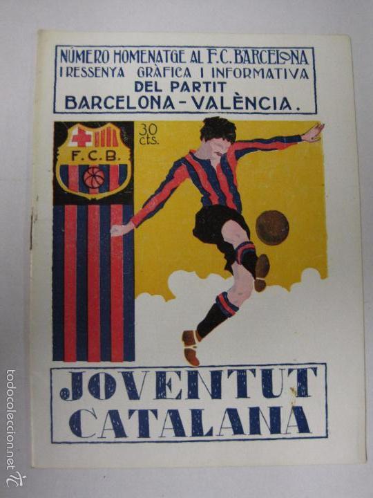 Coleccionismo deportivo: JOVENTUT CATALANA - HOMENATGE F.C. BARCELONA- AÑO 1925 -PLATKO-WALTER-SAMITIER-VER FOTOS - (V-5289) - Foto 2 - 56351169