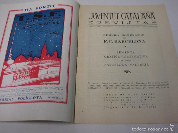 Coleccionismo deportivo: JOVENTUT CATALANA - HOMENATGE F.C. BARCELONA- AÑO 1925 -PLATKO-WALTER-SAMITIER-VER FOTOS - (V-5289) - Foto 3 - 56351169