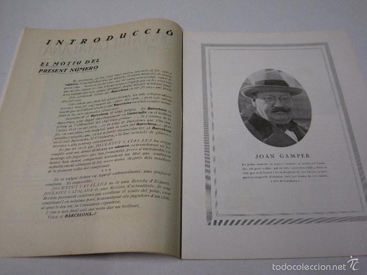 Coleccionismo deportivo: JOVENTUT CATALANA - HOMENATGE F.C. BARCELONA- AÑO 1925 -PLATKO-WALTER-SAMITIER-VER FOTOS - (V-5289) - Foto 4 - 56351169