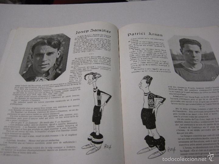 Coleccionismo deportivo: JOVENTUT CATALANA - HOMENATGE F.C. BARCELONA- AÑO 1925 -PLATKO-WALTER-SAMITIER-VER FOTOS - (V-5289) - Foto 11 - 56351169