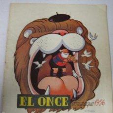 Coleccionismo deportivo: EL ONCE - F.C. BARCELONA- ALMANAQUE AÑO 1956 - CASTANYS - (V-5290). Lote 56351535