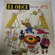 Coleccionismo deportivo: EL ONCE - F.C. BARCELONA- ALMANAQUE AÑO 1955 - CASTANYS - (V-5291). Lote 56351625