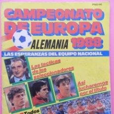 Coleccionismo deportivo: EXTRA CAMPEONATO DE EUROPA 1988 GUIA EURO ALEMANIA 88 - SELECCION ESPAÑOLA EUROCOPA GUIDE EC GERMANY. Lote 56367877