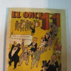 Coleccionismo deportivo: EL ONCE - F.C. BARCELONA- ALMANAQUE AÑO 1951 - CASTANYS -(V-5297). Lote 56369162