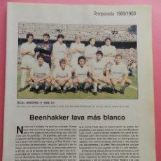 Coleccionismo deportivo: REAL MADRID CAMPEON 88/89 COLECCION 60 AÑOS DE LIGA 1988/1989-BEENHAKKER-DESCENSO ELCHE MURCIA. Lote 56630781