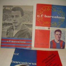 Coleccionismo deportivo: TRES REVISTAS......C.F.. BARCELONA. Lote 56857581