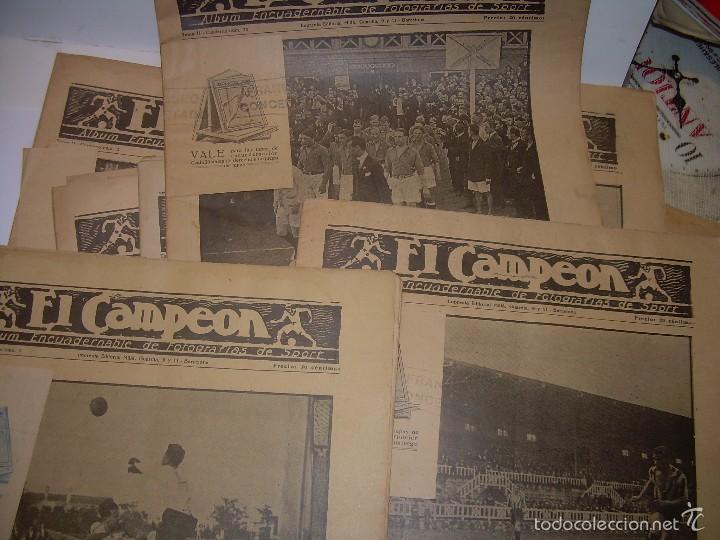ONCE REVISTAS....DE..EL CAMPEON. (Coleccionismo Deportivo - Revistas y Periódicos - otros Fútbol)