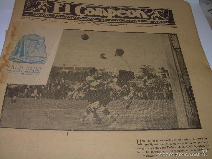 Coleccionismo deportivo: ONCE REVISTAS....DE..EL CAMPEON. - Foto 2 - 56857642