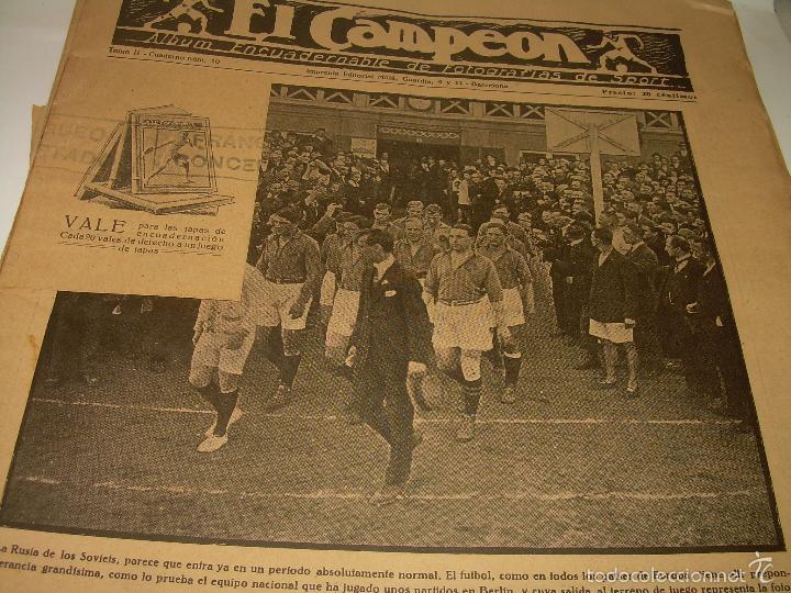 Coleccionismo deportivo: ONCE REVISTAS....DE..EL CAMPEON. - Foto 4 - 56857642