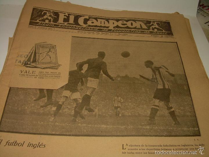 Coleccionismo deportivo: ONCE REVISTAS....DE..EL CAMPEON. - Foto 5 - 56857642