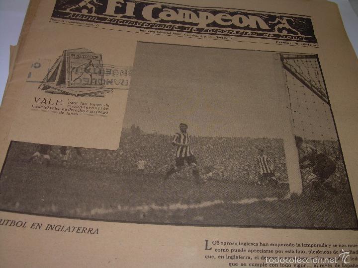 Coleccionismo deportivo: ONCE REVISTAS....DE..EL CAMPEON. - Foto 6 - 56857642