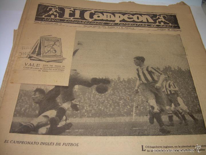 Coleccionismo deportivo: ONCE REVISTAS....DE..EL CAMPEON. - Foto 8 - 56857642